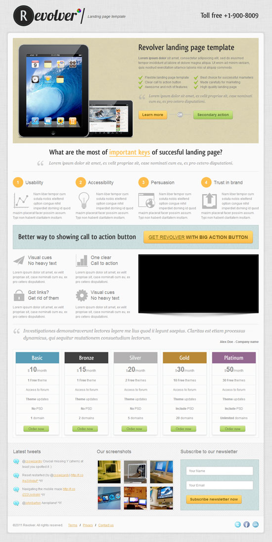 13 best landing page templates for effective product promotion. Black Bedroom Furniture Sets. Home Design Ideas