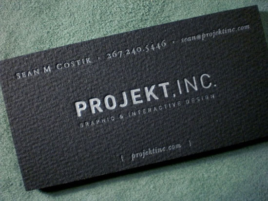 Beautiful Letterpress Business Cards  Dark