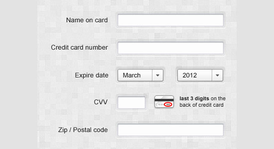 Free Web Forms PSD