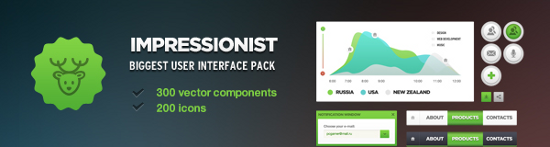 Free Impressionist UI Packs