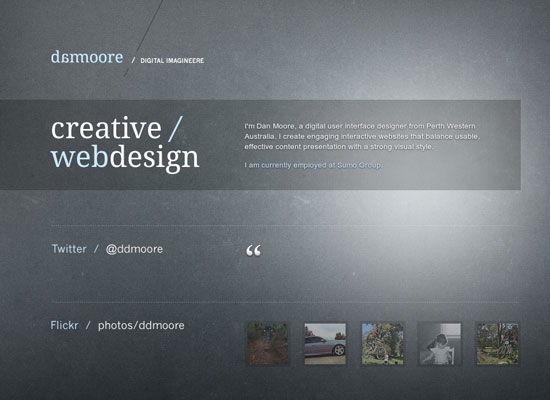 Dark Portfolio Websites