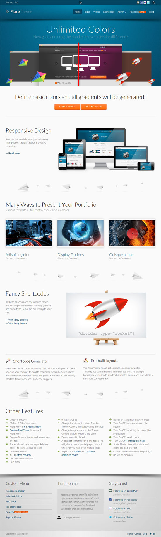 Colors for professional website - Professional Business Website Templates