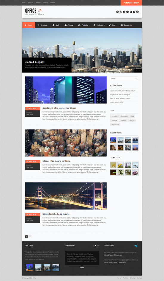 office website templates