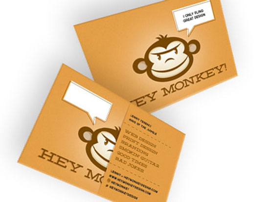 45 most creative business cards using illustrations hey monkey illustration business cards reheart Images