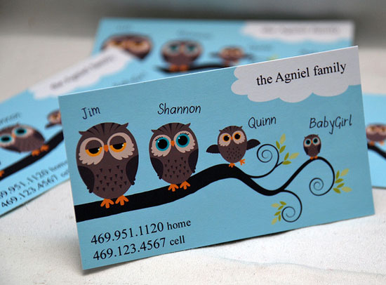 45 most creative business cards using illustrations for Family business cards