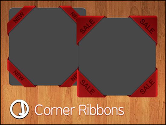 free psd ribbons