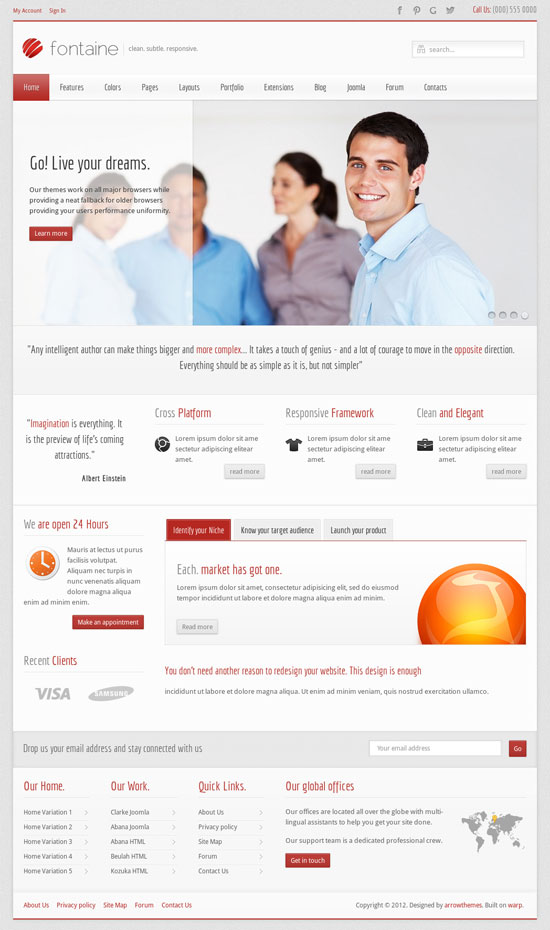 12 creative business website templates business website templates accmission Images