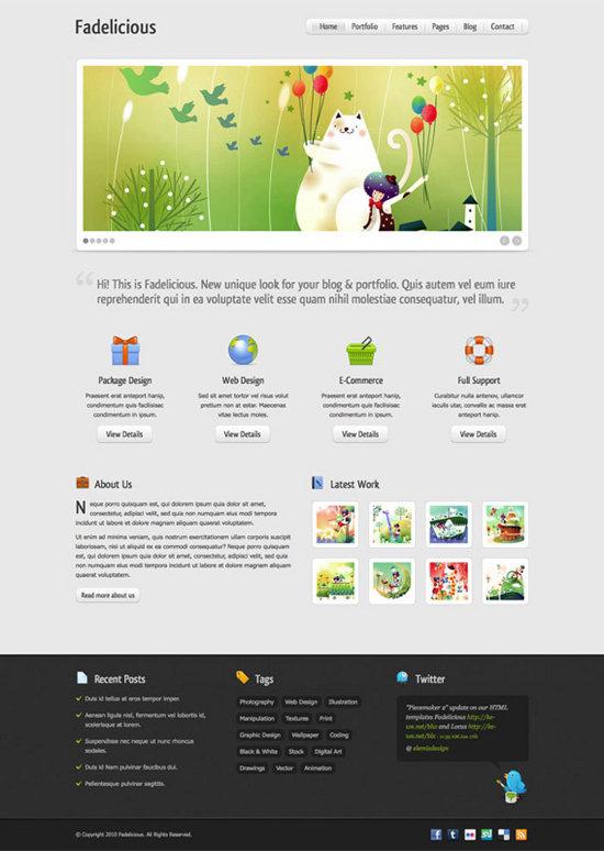 Free Website Templates PSD