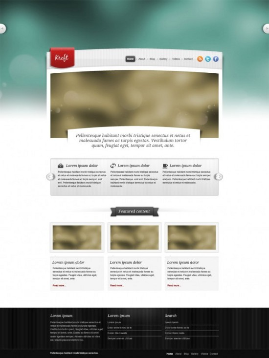 Free Website Templates PSD