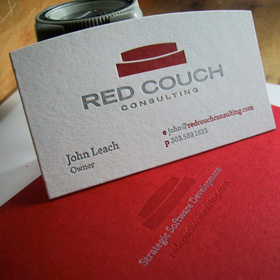 Red Couch Business Card Design