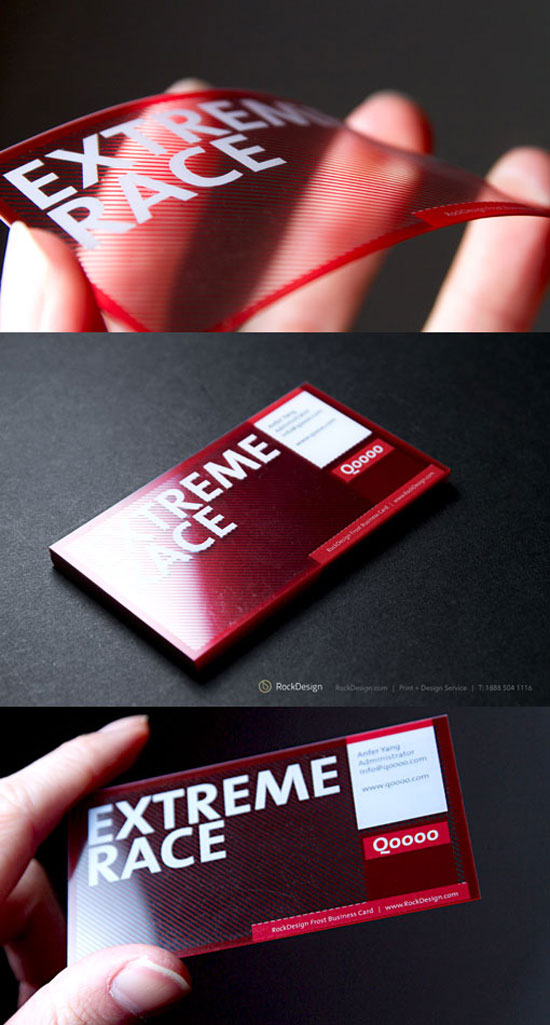 27 beautiful red business card designs clear transparent business card colourmoves