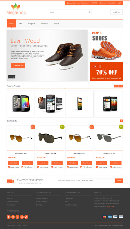 ecommerce template E-commerce e-commerce site templates are a great alternative for those who want to hardcode an e-commerce website without the use of a content management system.