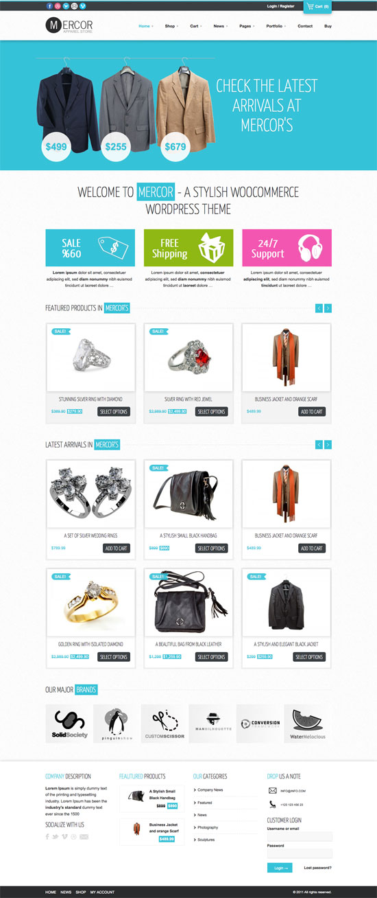 Best ECommerce Templates For Your Online Shop Brand - Wordpress ecommerce templates