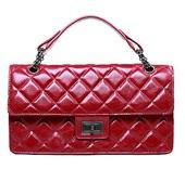 BagInc Alexa Duffle Studded Calfskin Leather Bag