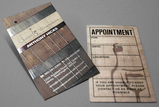 Creative Brown Business Cards