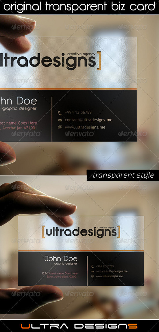 30 Elegant Transparent Business Cards