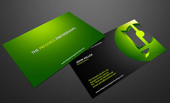 The Beautiful Design Of 34 Green Business Cards