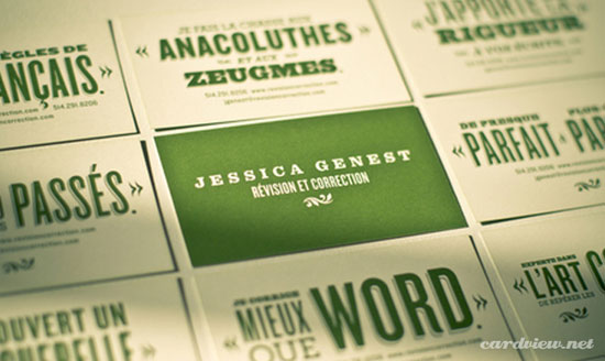 Green Business Cards