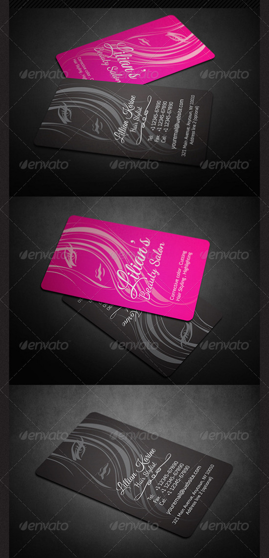 A Collection Of 38 Creative Pink Business Cards