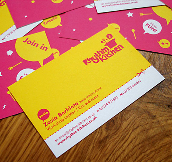 Pink Business Cards
