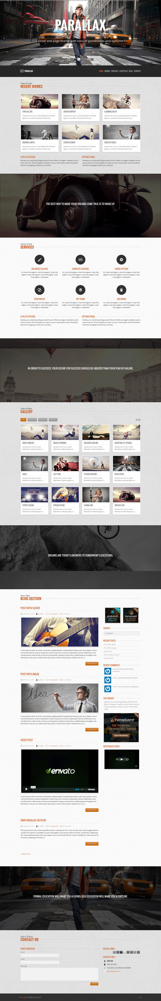 parallax website template - Vatoz.atozdevelopment.co