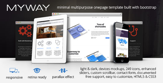 10 amazing one page parallax scrolling website templates for Free html5 parallax scrolling template