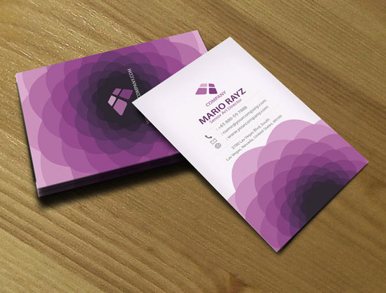 31 creative purple business cards to inspire you purple flora business card colourmoves Image collections