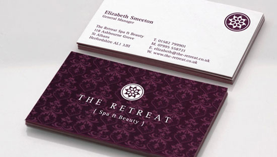 31 creative purple business cards to inspire you spa identity card purple business cards colourmoves Image collections