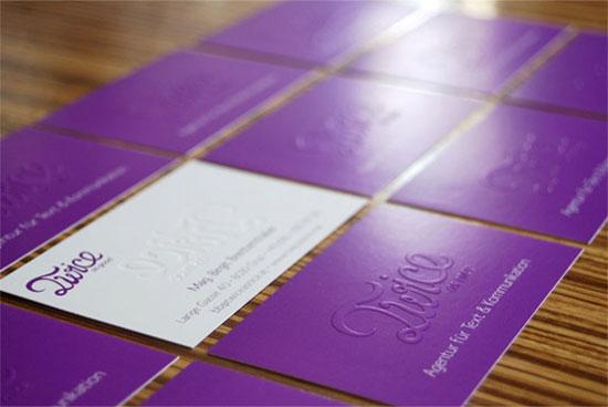 Purple Business Cards