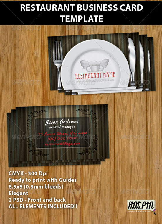 25 inspiring restaurant business cards restaurant business cards flashek Gallery