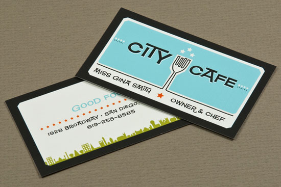 retro restaurant business card - Restaurant Business Card