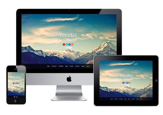 Parallax Scrolling Website Design