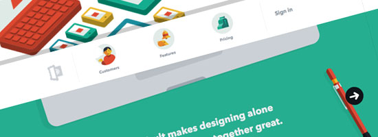 Flat Design Portfolio Websites