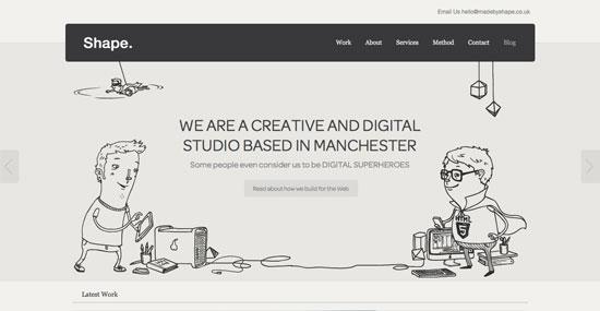 Flat Design Portfolio Websites