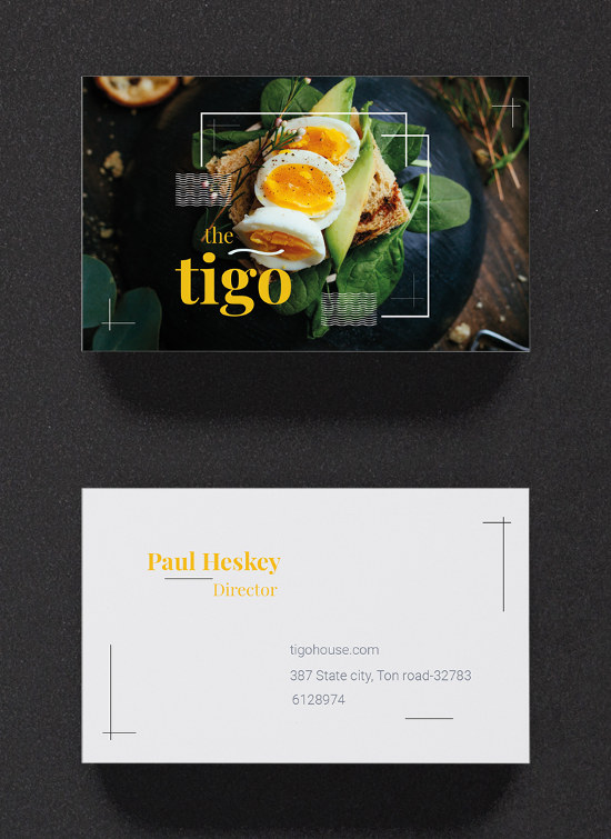 Free Restaurant Business Card Template by Template.net