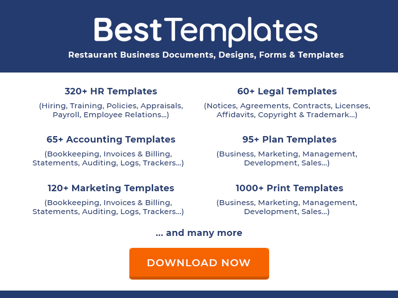 1000+ Restaurant Business Designs, Forms, Templates and Documents