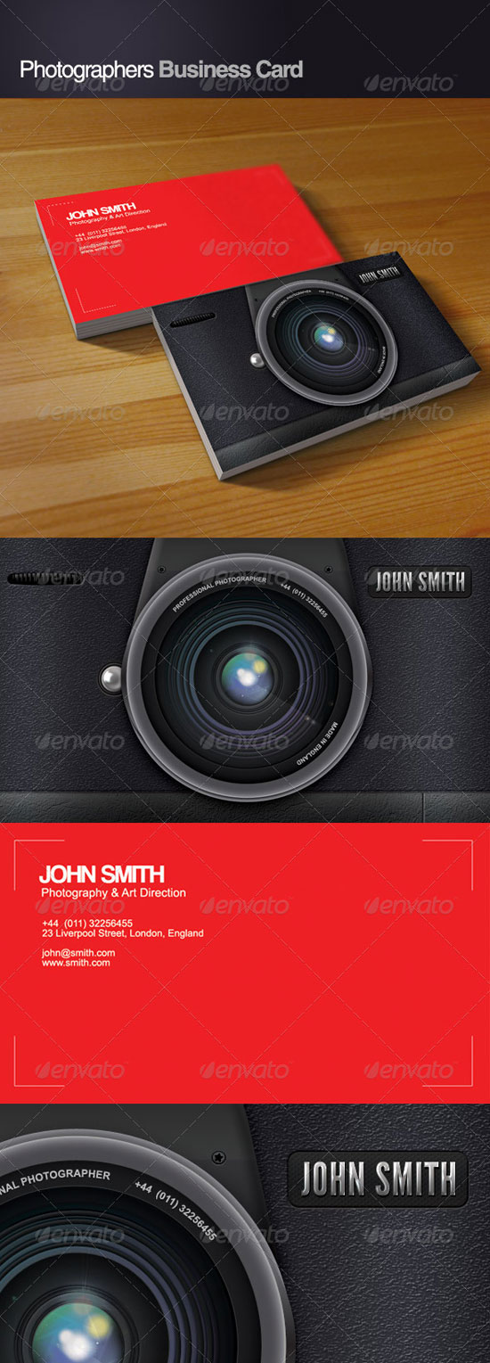 The Most Creative Photographer Business Cards