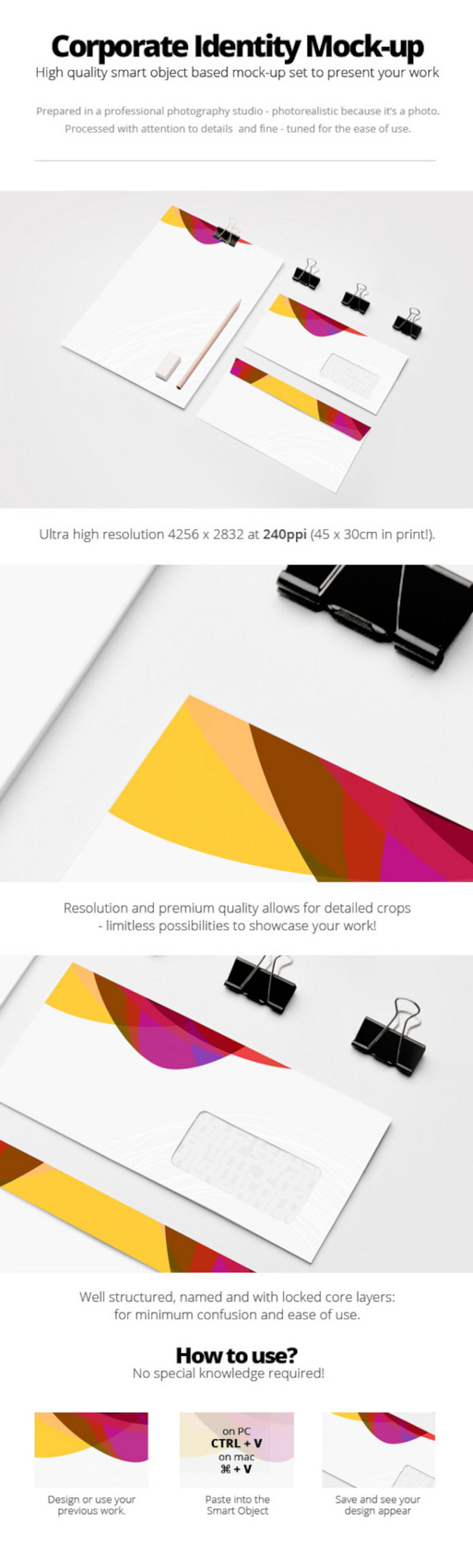 Free High Quality Corporate Identity / Stationery Mock-Up