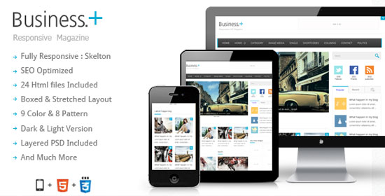 Magazine Website Template