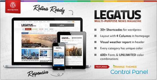 Best Responsive Magazine Website Templates - Online magazine template