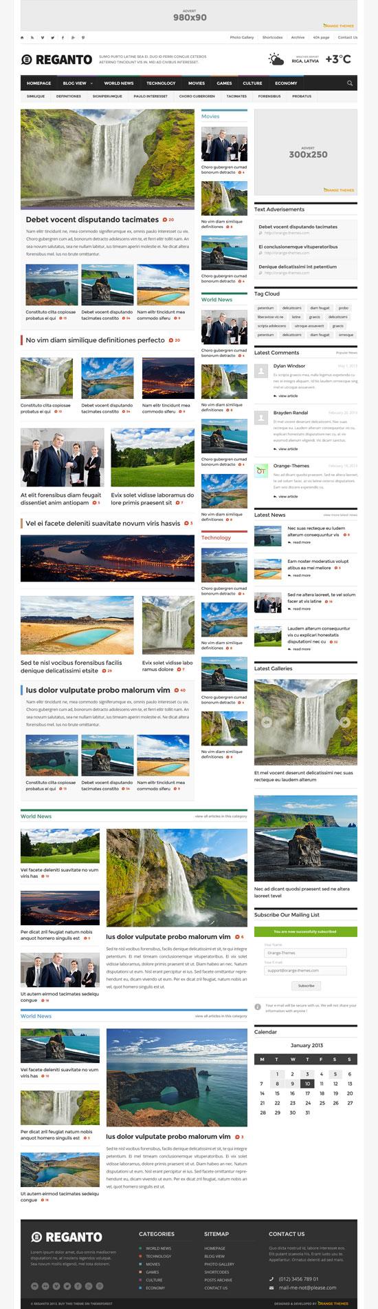 Magazine Website Template