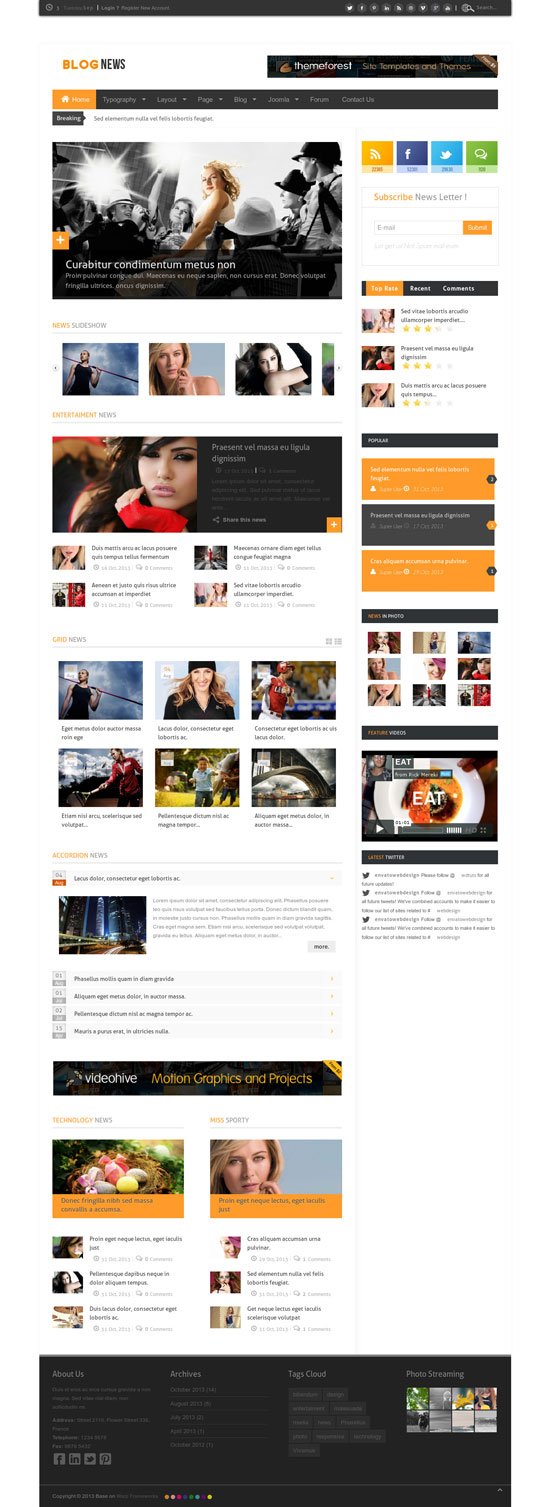 14 Best Responsive Magazine Website Templates