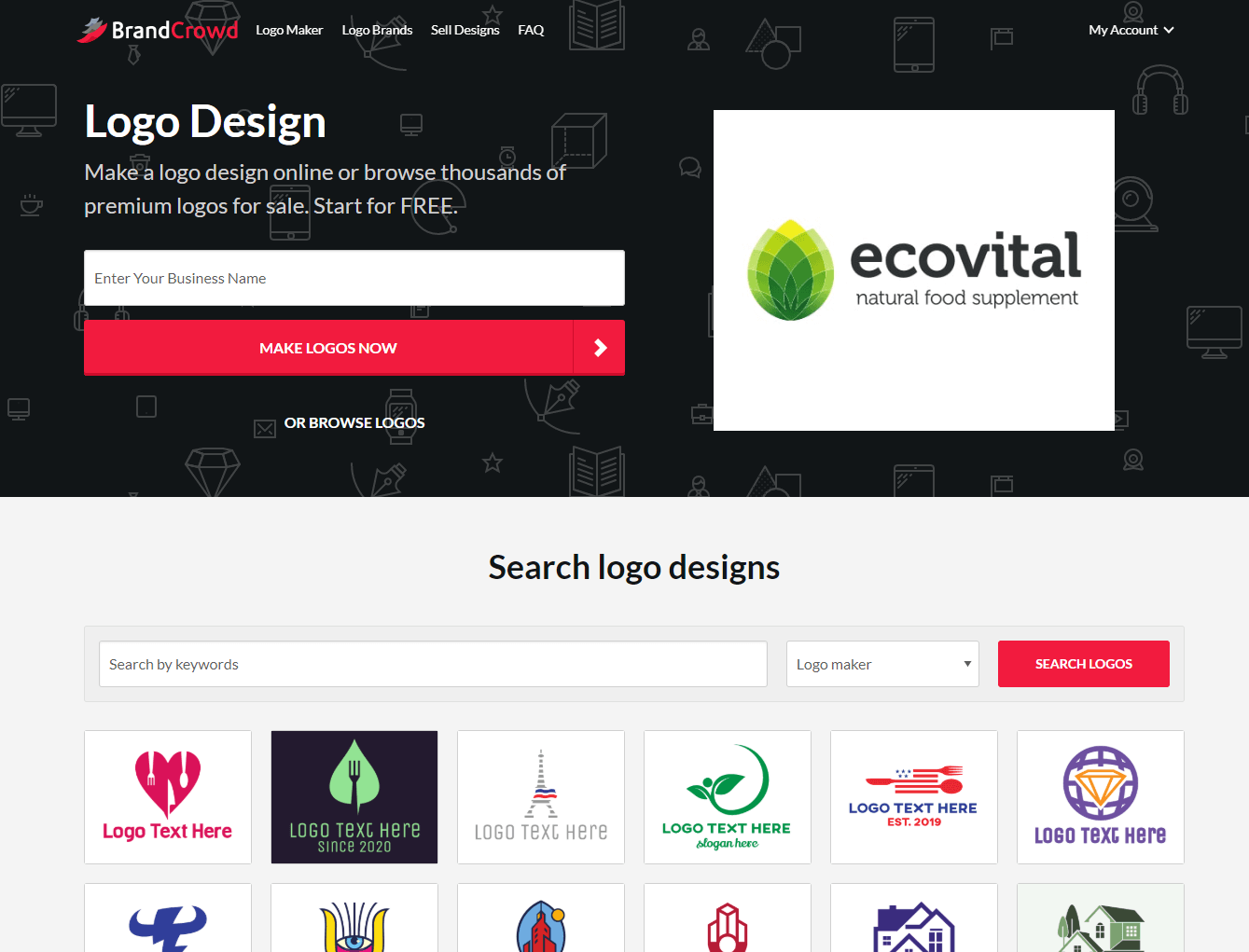 BrandCrowd Best Logo Marketplace