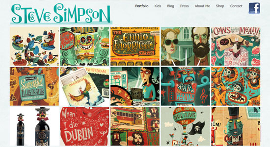 Illustrator Portfolio Websites