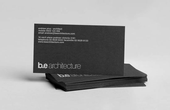 B.E Architecture. Architect Business Cards