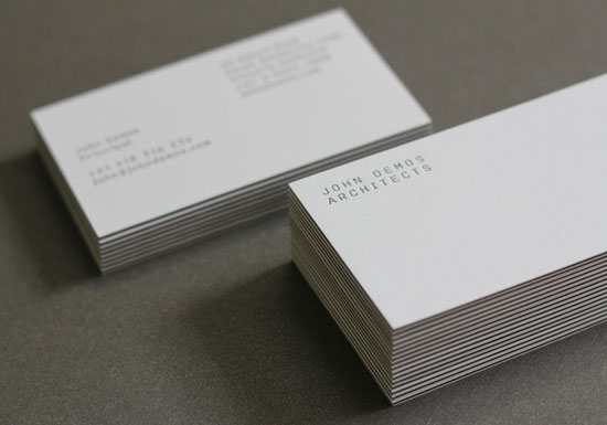 32 inspiring architect business card designs john demos architects architect business cards reheart Choice Image