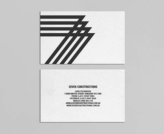 32 inspiring architect business card designs seven construction architect business cards reheart Gallery
