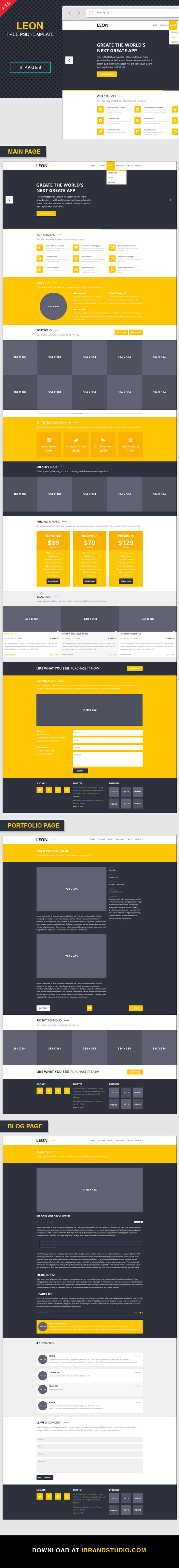 Free Website Landing Page Template