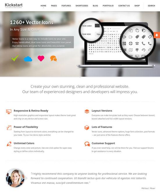 Retina WordPress Themes