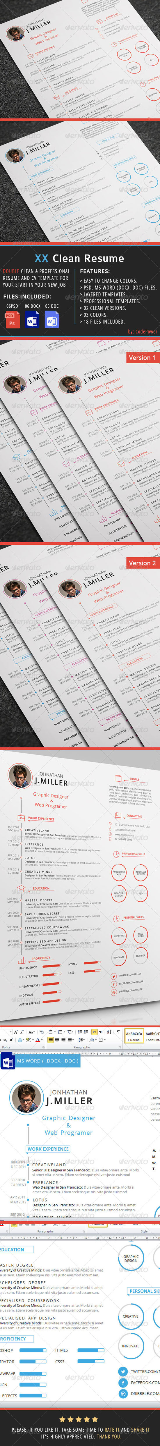 Simple  Professional Resume Templates To Get A Dream Job